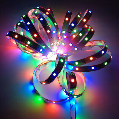 32FT Flexible 3528 RGB LED SMD Strip Light Remote Fairy Lights Room TV Party Bar Home & Garden