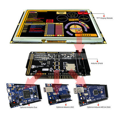 8 Inch Tft Lcd Resistive Touch Ra8875 Shield For Arduino Duemega 2560 Uno