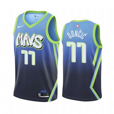 DONCIC CAMISETA DE LA NBA DE LOS MAVS CELESTE. TALLA XL,2XL.