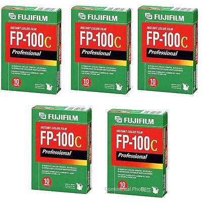 50 Fujifilm Fuji FP-100C Instant Color Film 50 Exposures 2018 DATE