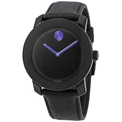 Movado Bold Black Dial Purple Accents Unisex Watch 3600479