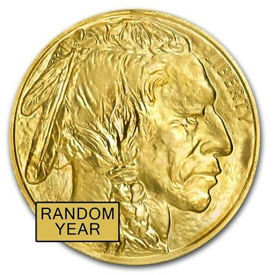 1 oz Gold American Buffalo Coin Random Year BU - SKU #87710
