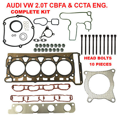 Engine Cylinder Head Gasket Set With Head Bolts For Audi VW 2.0T TSI -