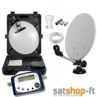 Camping Digitale Mobile  SAT Anlage Koffer SET Satelliten Schüssel HD+ Satfinder