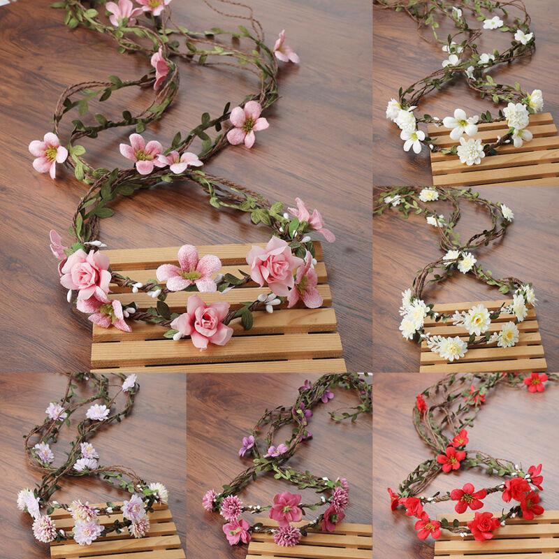 Beautiful Bridal Wreath Flower Garland Wreath Flower Weeding Party For Women