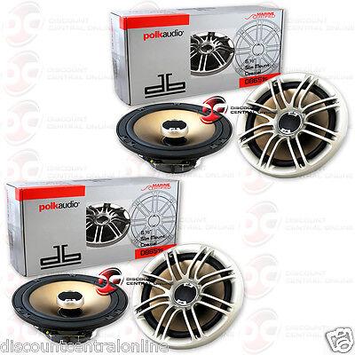 4 X Polk Audio Db651s 6 1 2 Inch 2Way Car Boat Marine Audio Slim Mount Speakers
