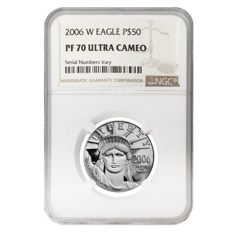 2006 W 1/2 oz $50 Platinum American Eagle Proof Coin NGC PF 70 UCAM