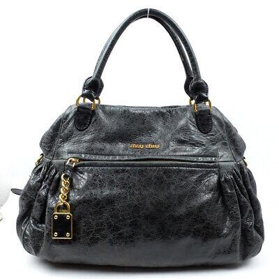 Miu Miu Handbag leather logo black