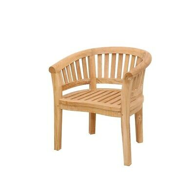 Anderson Teak Curve Armchair Extra Thick Wood - CHD-032T Bench Extra Thick Wood