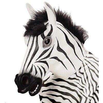 LATEX ZEBRA MASKE Zebramaske Afrika Wildtier Kostüm Party - Latex Tier Kostüme