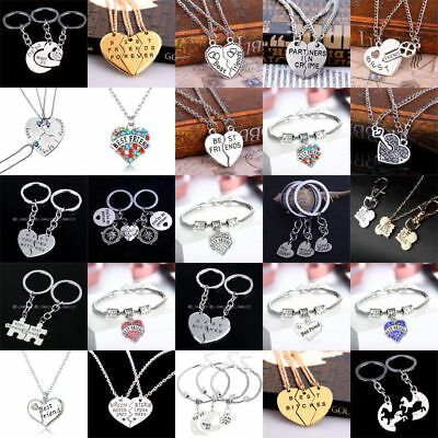 Best Friend Necklace Charm Friendship Bracelets BFF Gifts Pendant Jewelry