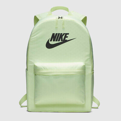 NIKE HERITAGE 2.0 BACKPACK BAG School Gym BA5879-701 NEW with tags Volt Black