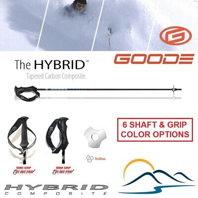 Goode Tapered Hybrid-Carbon Ski Poles Strong Carbon Fiber Difficult to -