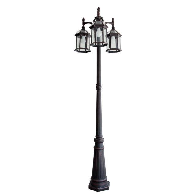 outdoor lamp post with 5 globes snowman globe portfolio pole mount light lighting fixture lights lantern
