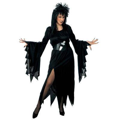 DAMEN HEXENKOSTÜM Halloween Karneval Zauberin Magierin Hexen Kostüm Gothic Party