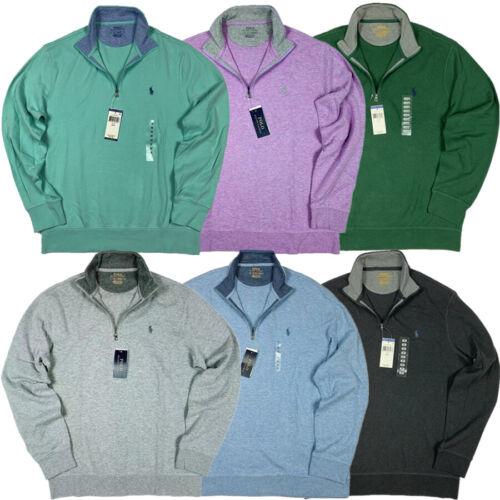 NWT Polo Ralph Lauren Mens Quarter/Half Zip Pullover Sweater Sweatshirt Viscose