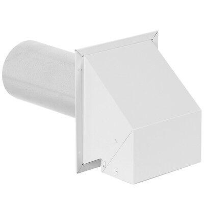 4 White Metal R2 Outside Wall Exhaust Dryer-vent Range-hood Bathroom-fan Damper