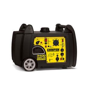 100261i - 3400w Champion Power Equipment Inverter Generator Remote Wireless