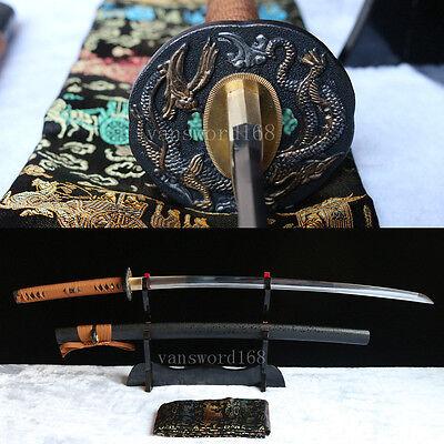 Full Tang Hand forge 1060 High carbon steel Japanese Samurai Sword katana sharp.