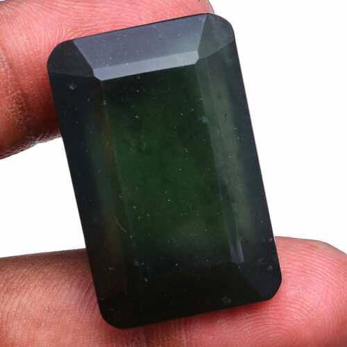 56.00 Cts Natural Serpentine Huge Octagon Faceted Cut Untreated Loose Gemstone