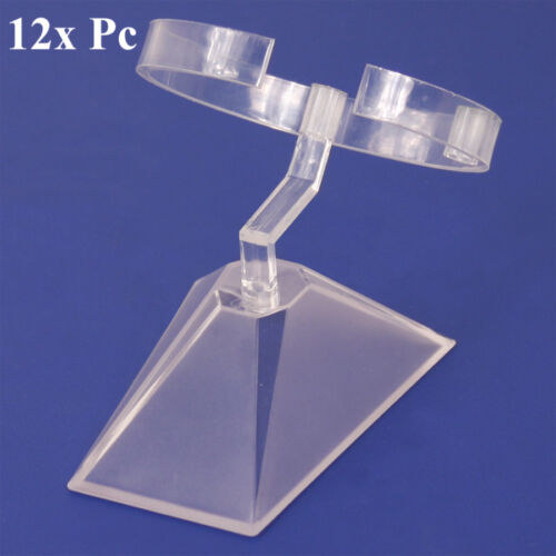 LOT OF 12 ACRYLIC WATCH DISPLAY STAND WATCH STAND BANGLE DISPLAY BRACELET STAND