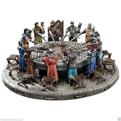 Medieval King Arthur The Knights Of The Round Table Hand Painted Sculptural Set ](Medieval Table Setting)