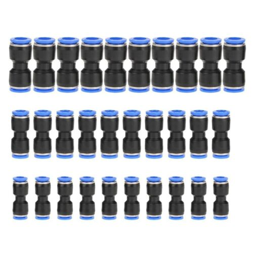 30pc Pneumatic Push Connectors Quick Release Air Line Fittings 1/4 5/16 3/8 A535