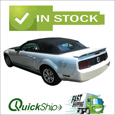 2005-2014 Mustang Convertible Top With Defroster Glass Window -Black Sailcloth