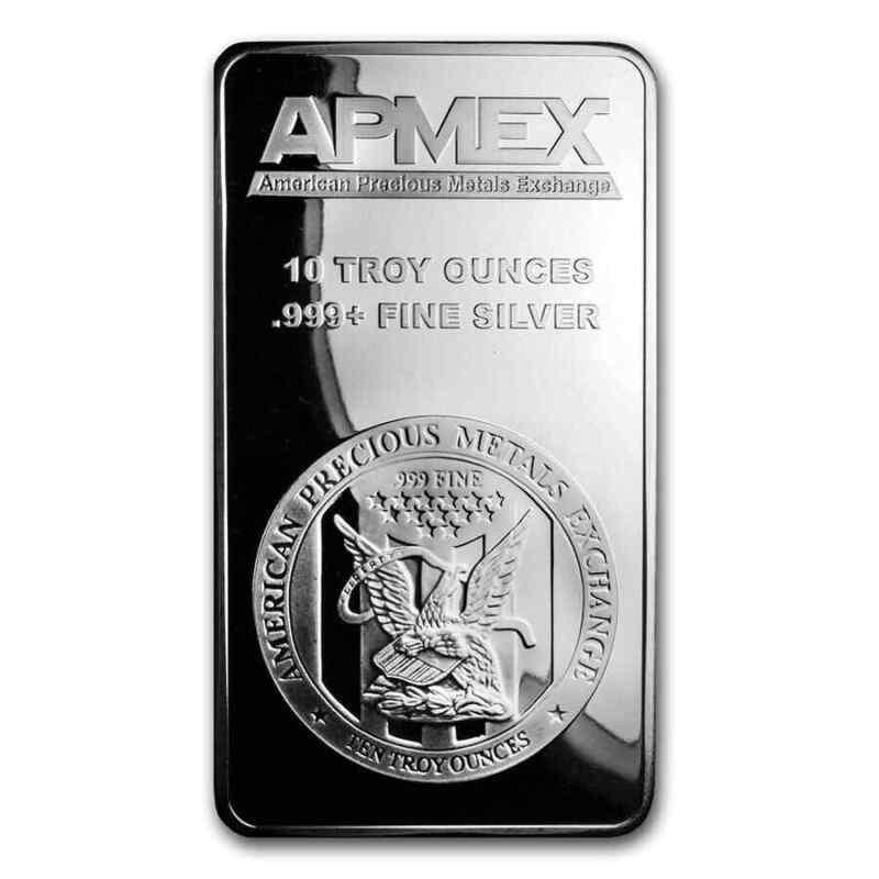 10 oz Silver Bar APMEX .999 Fine Silver