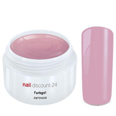 Color UV Gel FARBGEL ZARTROSA 5ml Frenchgel Modellage Nail Naildesign Nägel