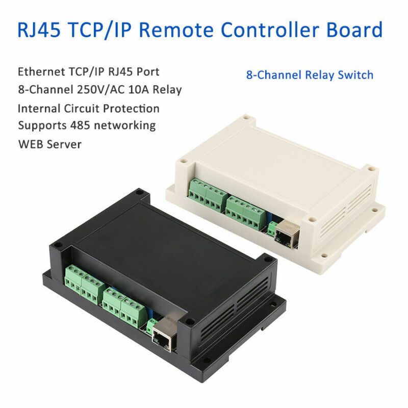 Ethernet TCP/IP RJ45 Port Remote Controller Board 8 Channels Relay Integrated