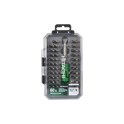 Hitachi 60-Piece Shank Screwdriver Bit Set