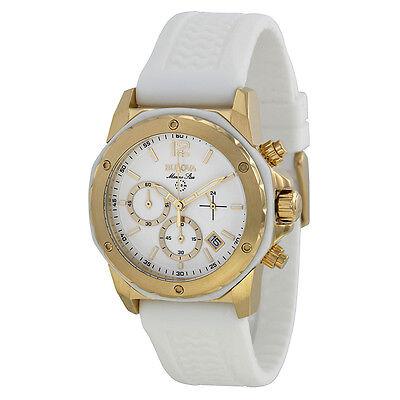 Bulova Women's 98M117 Marine Star Chronograph White Dial White Silicone Watch
