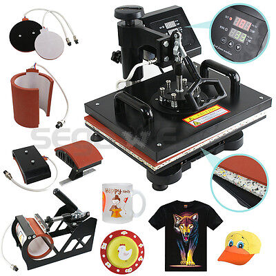 5 In 1 Digital Warmness Press Machine Sublimation For T-Shirt/Mug/Plate Hat Printer