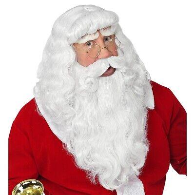 WEIHNACHTSMANN PERÜCKE & BART # Weihnachten Nikolaus Santa Kostüm Zubehör 46943