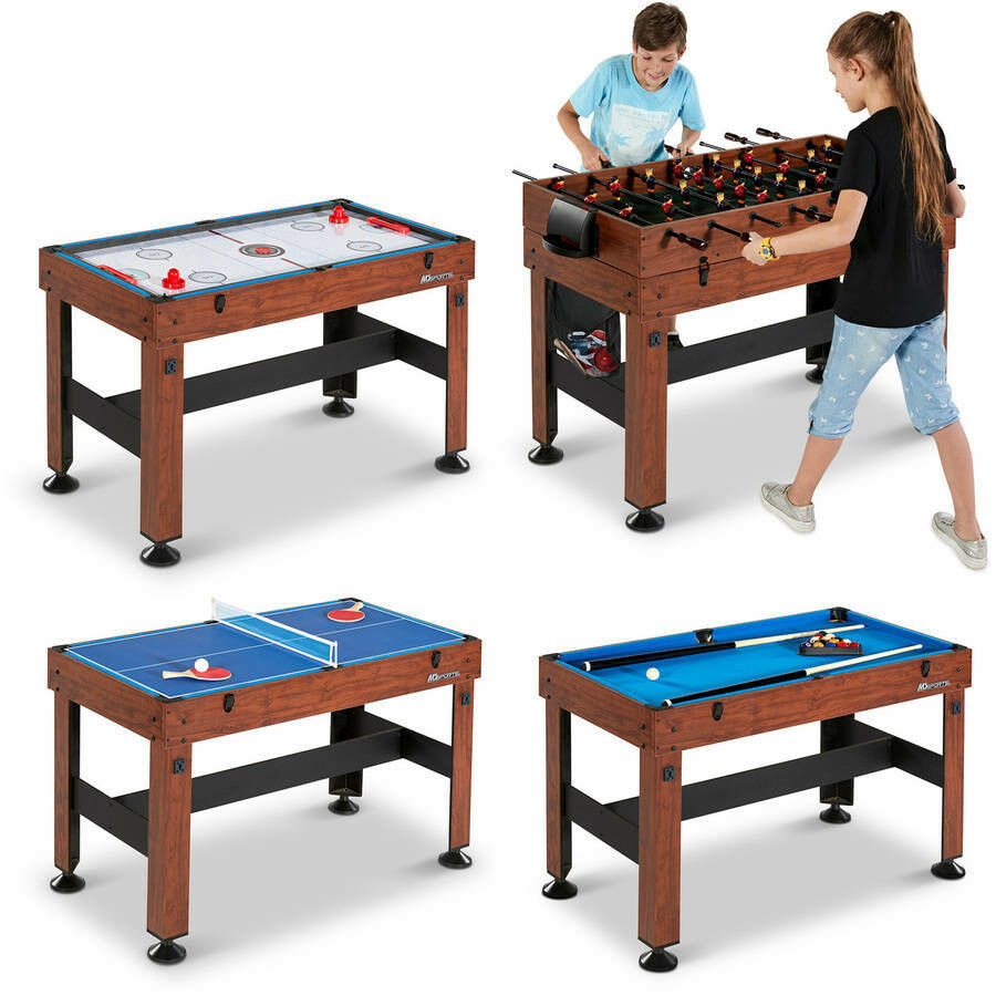 Table Combo Arcade Games 4-In-1 Foosball Hockey Table Tennis