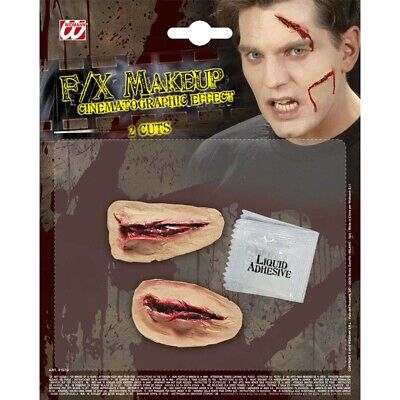 FX GRUSEL EFFEKT Halloween Horror Make-Up Schnittwunden Wunden Kostüm Party 4157 ()