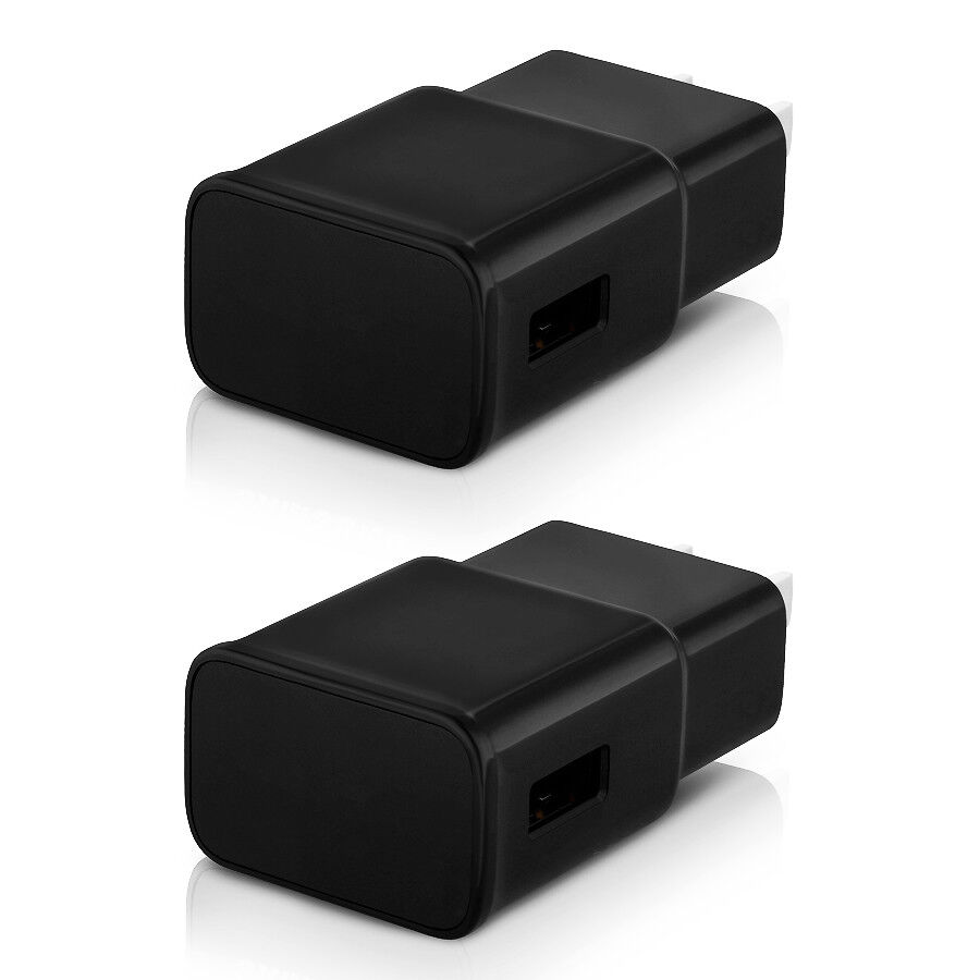 2-Pack USB Wall Charger Plug AC Power Adapter for iPhone iPa