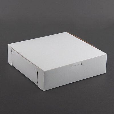 Pack Of 25 White Bakery Cake Box 9x9x2.5