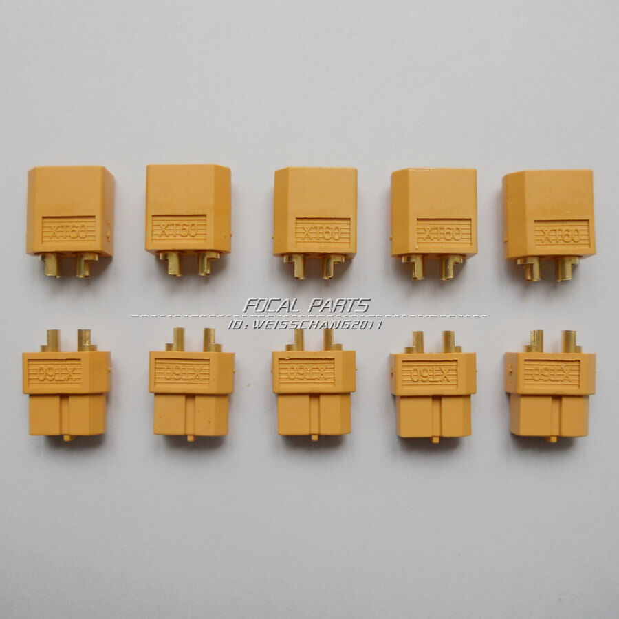Купить Unbranded - 5 Pairs XT60 Male & Female Bullet Connectors Plugs For RC  Lipo Battery M412