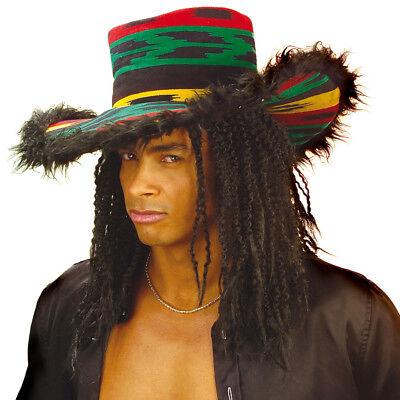 JAMAIKA HUT # Karneval Rasta Hippie Südsee Hawaii Mütze Reggae Kostüm Party (Jamaika Karneval Kostüm)