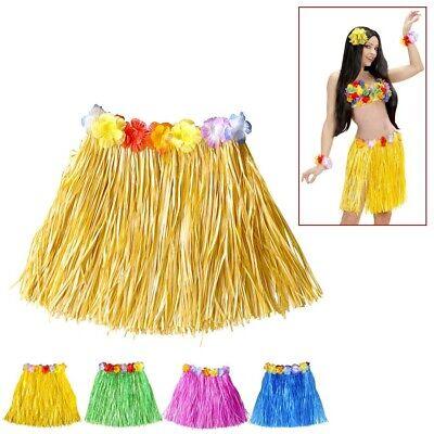 MINI BLÜTEN BASTROCK # Südsee Hawaii Rock Karibik Damen Hula Aloha Kostüm - Karibik Party Kostüm
