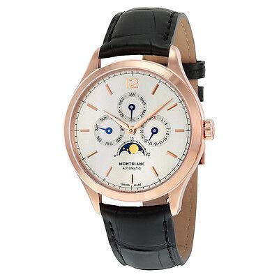 Montblanc Heritage Chronometrie Quantieme Annuel Automatic 18kt Rose Gold Black