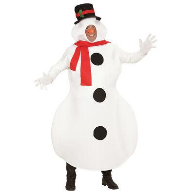 HERREN SCHNEEMANNKOSTÜM Weihnachten Schneemann Weihnachtsmann Kostüm Party - Herr Schneemann Kostüm