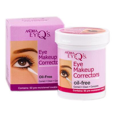 Andrea Eye Q's Eye Makeup Correctors 50 oil free pre moistened swabs