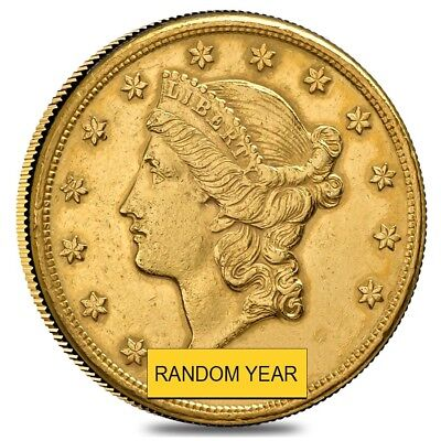 20 Gold Double Eagle Liberty Head   Polished Or Cleaned  Random Year