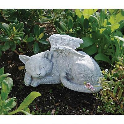 Cat Feline Memorial Stone Finish Statue Angelic Commemorative Pet Sculpture