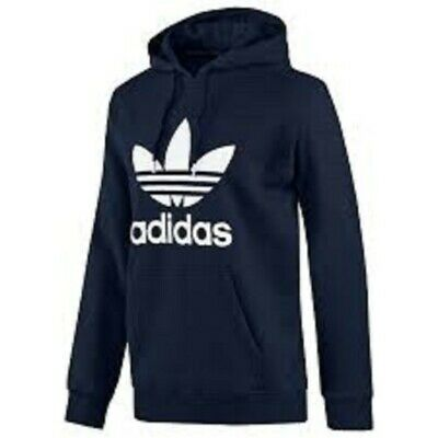 ADIDAS MEN ORIGINALS TREFOIL FLEECE HOODIE - HOODED SWEATSHIRT ( SIZE LARGE )