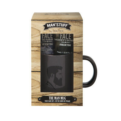 MAN'STUFF by TECHNIC THE MAN MUG Face Care Set  great Father's Day gift (Father's Day Stuff)