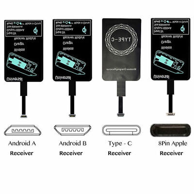 Samsung Wireless Receiver (Qi Wireless Charger Receiver For iPhone Samsung Wireless Charging Adapter)